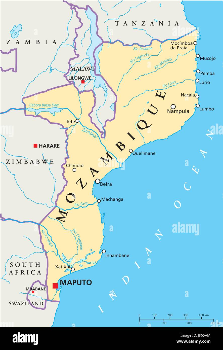 map of mozambique and south africa Mozambique Map Atlas Map Of The World Travel Africa Stock map of mozambique and south africa