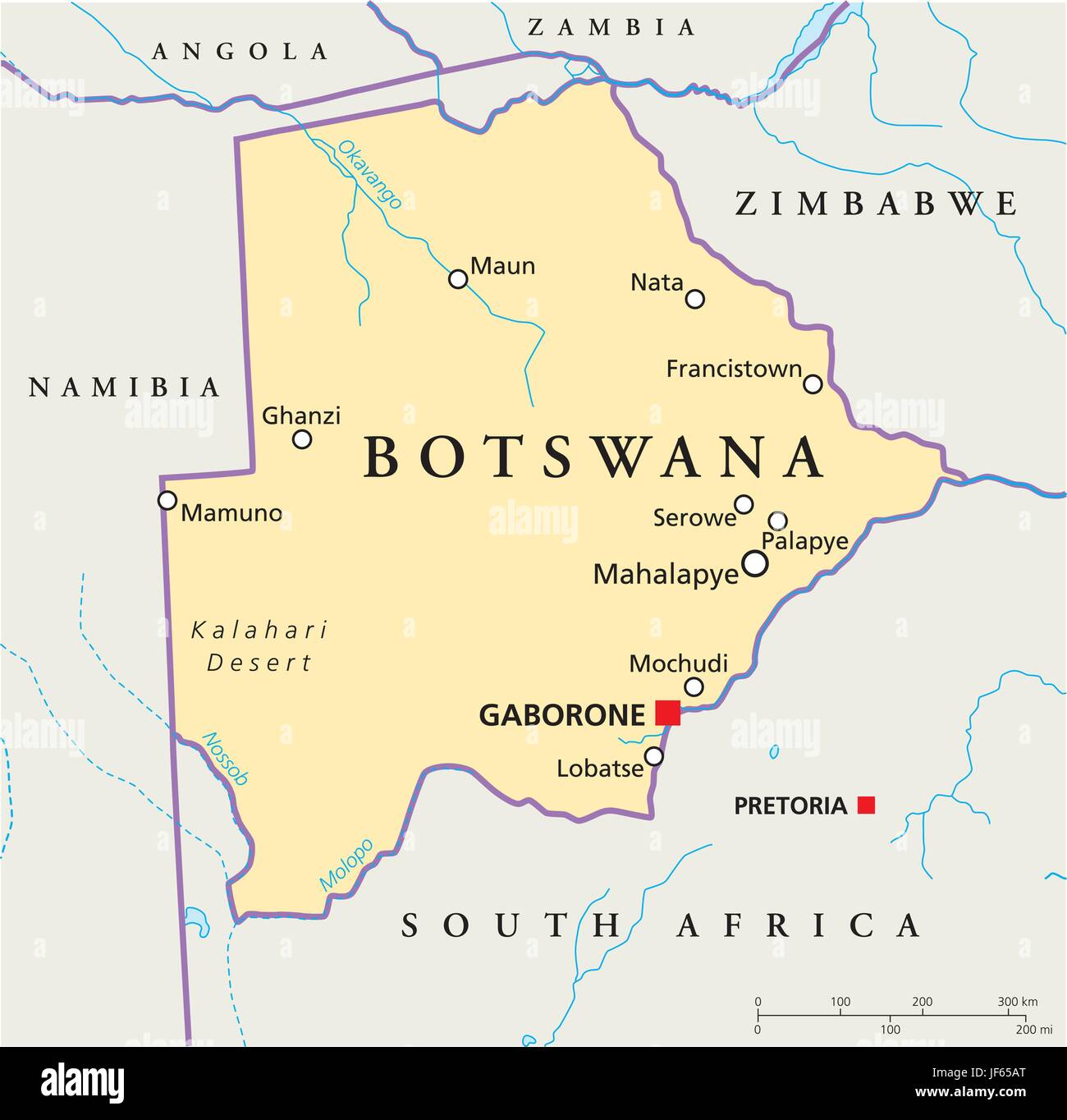 Picture of: Africa Safari Botswana Map Atlas Map Of The World Travel Stock Vector Image Art Alamy