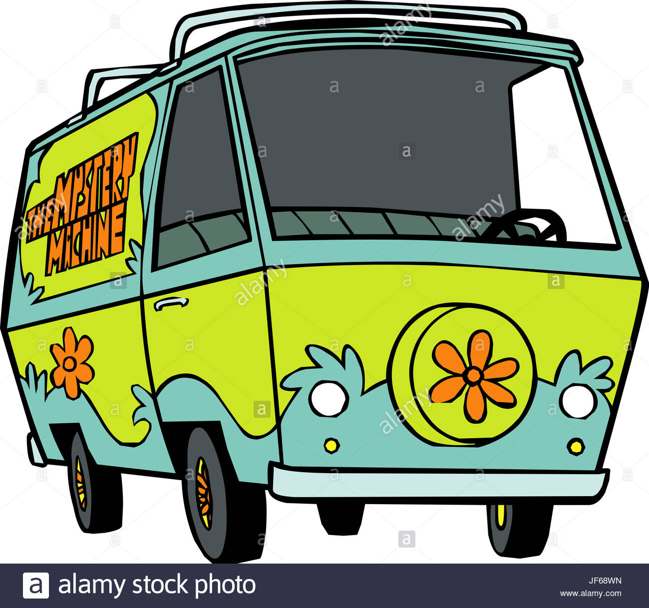 Mystery machine van illustration stock photo 147041489 - Personnage scoubidou ...