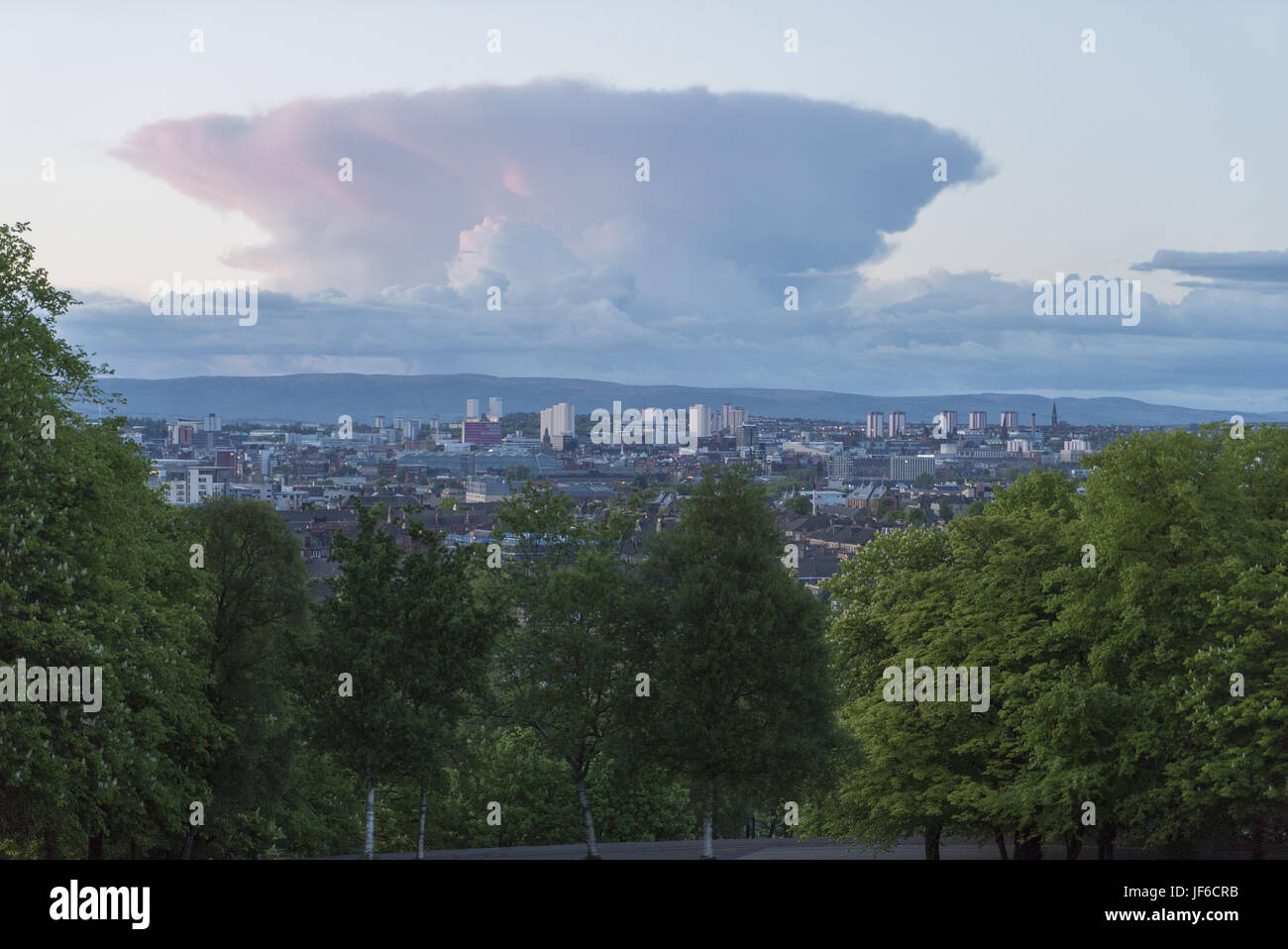 view over Glasgow - Stock Image