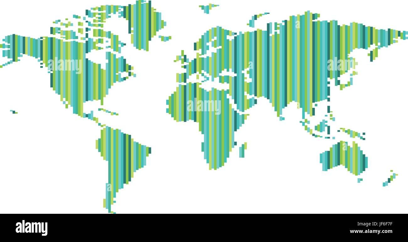 World map pixel vector stock vector art illustration vector image world map pixel vector gumiabroncs Choice Image