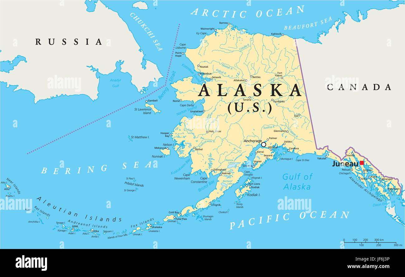 Bering Strait Map High Resolution Stock Photography And Images Alamy