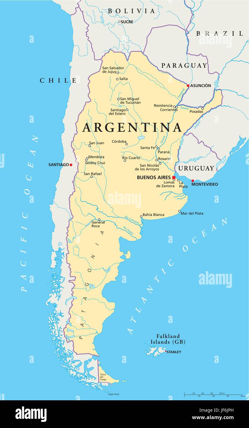 argentina, south america, map, atlas, map of the world ...