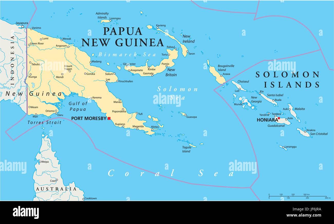 Picture of: Pacific Salt Water Sea Ocean Water Guinea Map Atlas Map Of Stock Vector Image Art Alamy