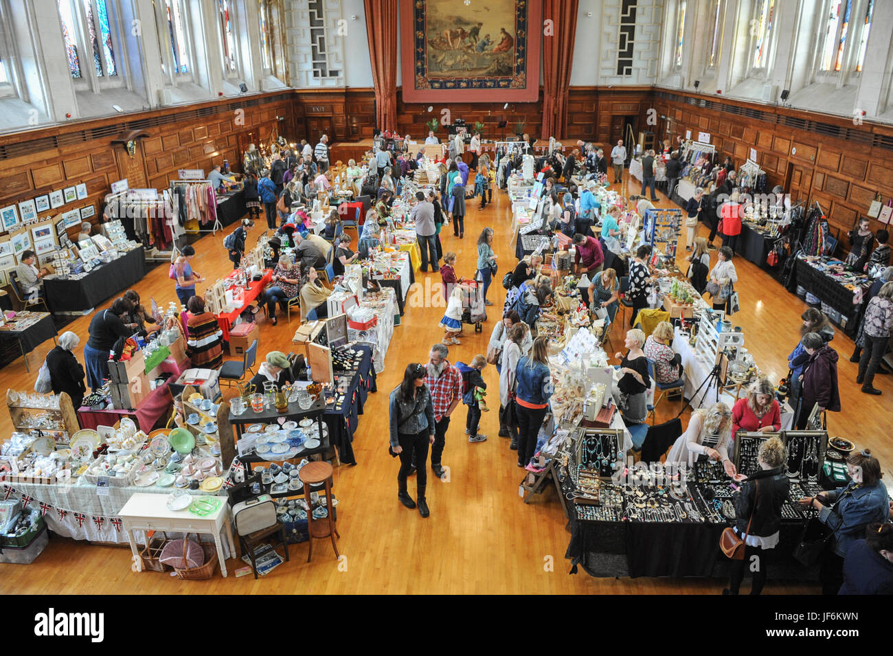 Copyrighted Image by Paul Slater/PSI -  Interior of Plymouth Guild Hall, Plymouth, Devon. - Stock Image