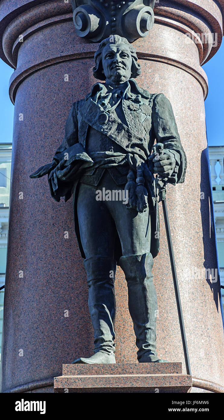 Sculpture of Prince Grigory Potemkin Tauride - Stock Image
