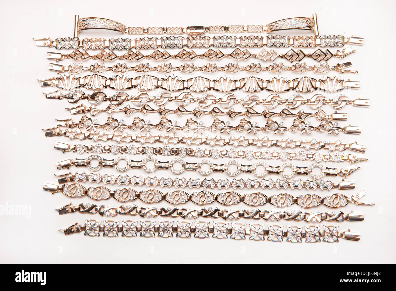 Golden Bracelets - Stock Image