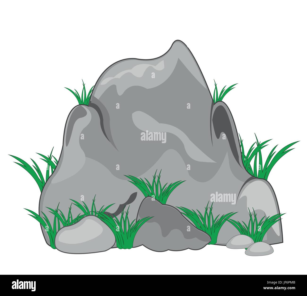 Stone and herb - Stock Vector