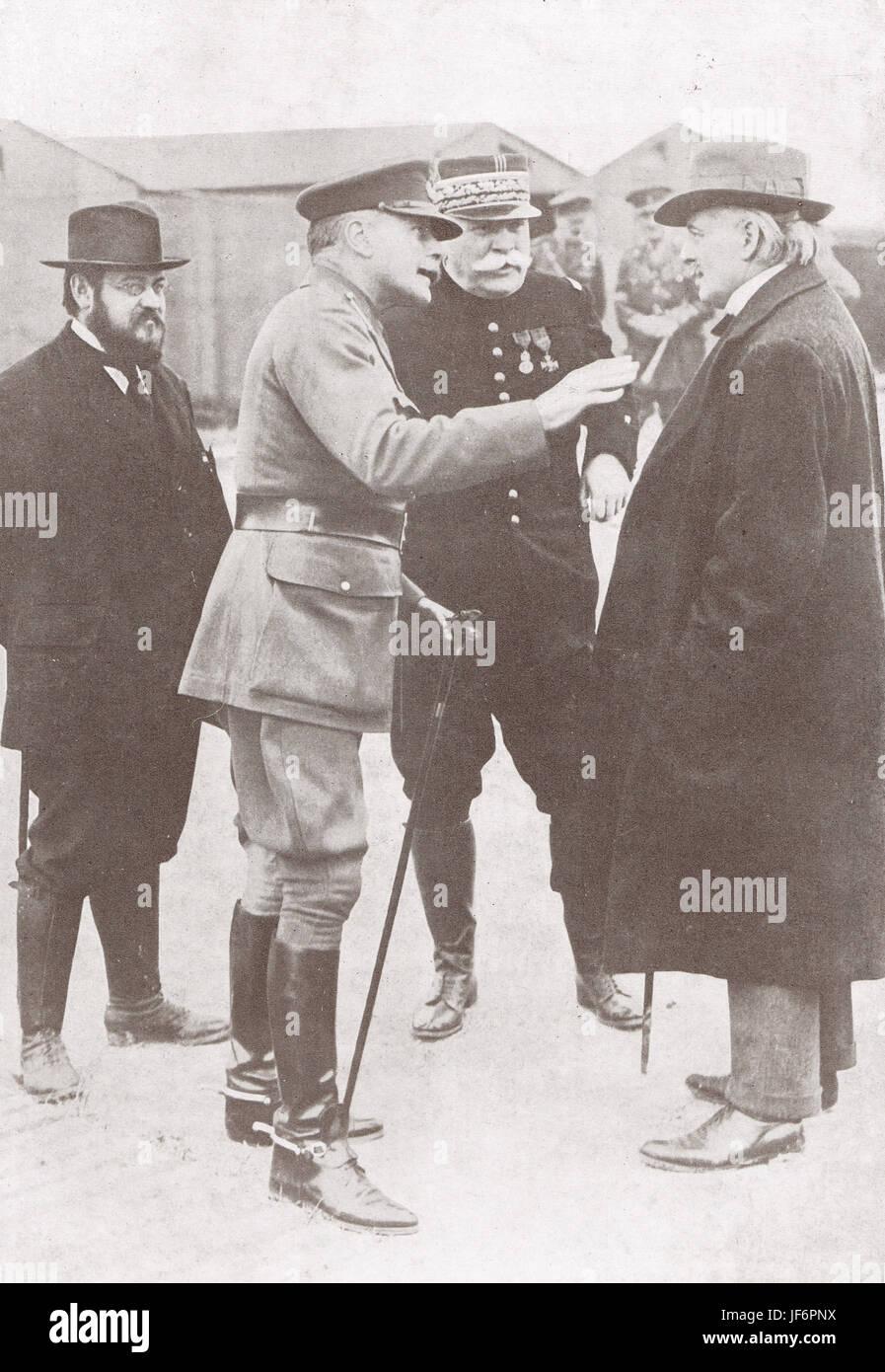 Lloyd George & Douglas Haig, France 1916 - Stock Image