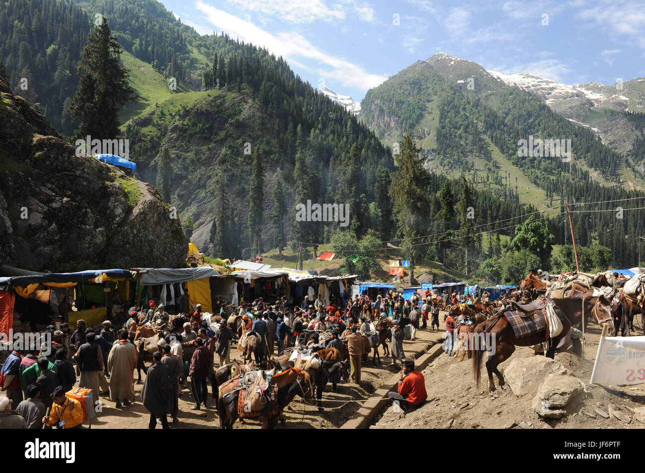 Pilgrimage amalgam to Chandigarh, amarnath yatra, jammu Kashmir, India, asia - Stock Image