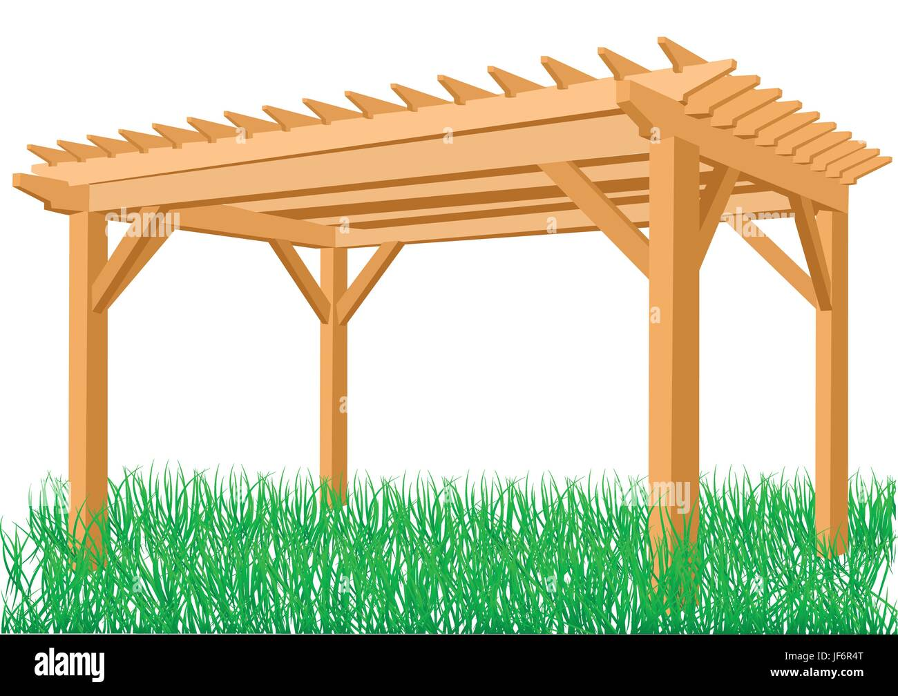 isolated, summer, summerly, spring, outdoor, outdoors, pergola, decorative, - Stock Vector