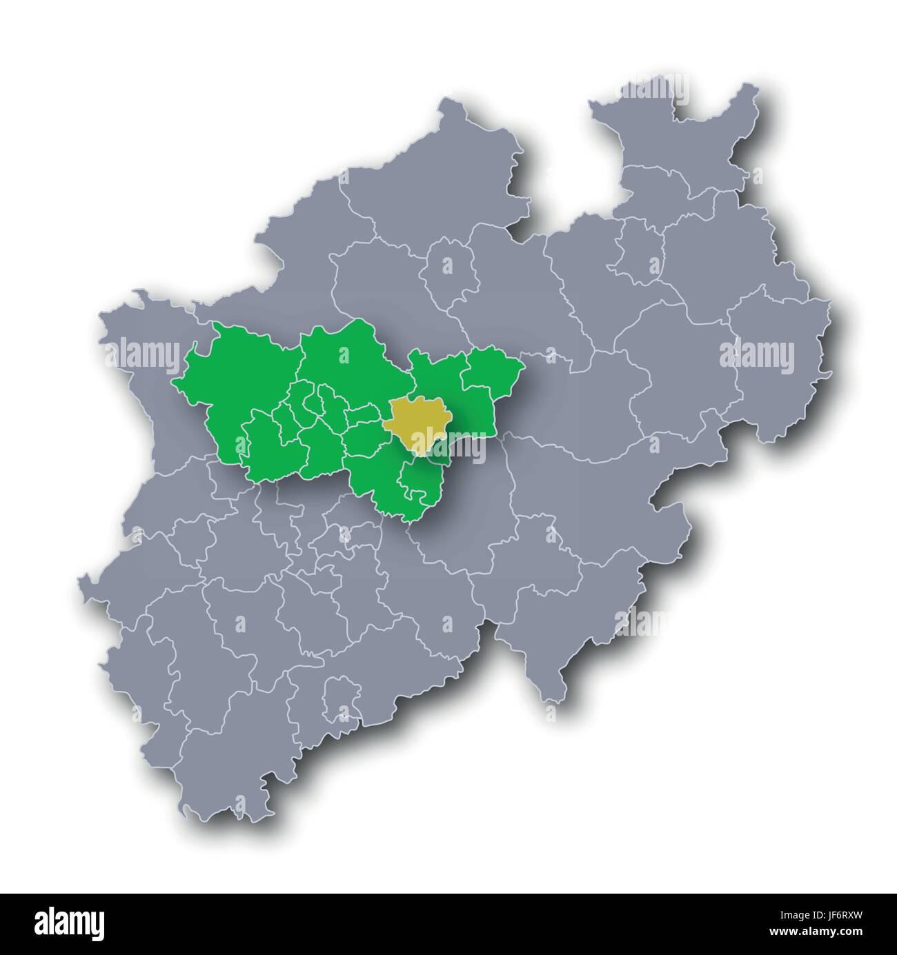city, town, metropolis, card, urban area, westphalia, proud, pride, city, town, - Stock Image