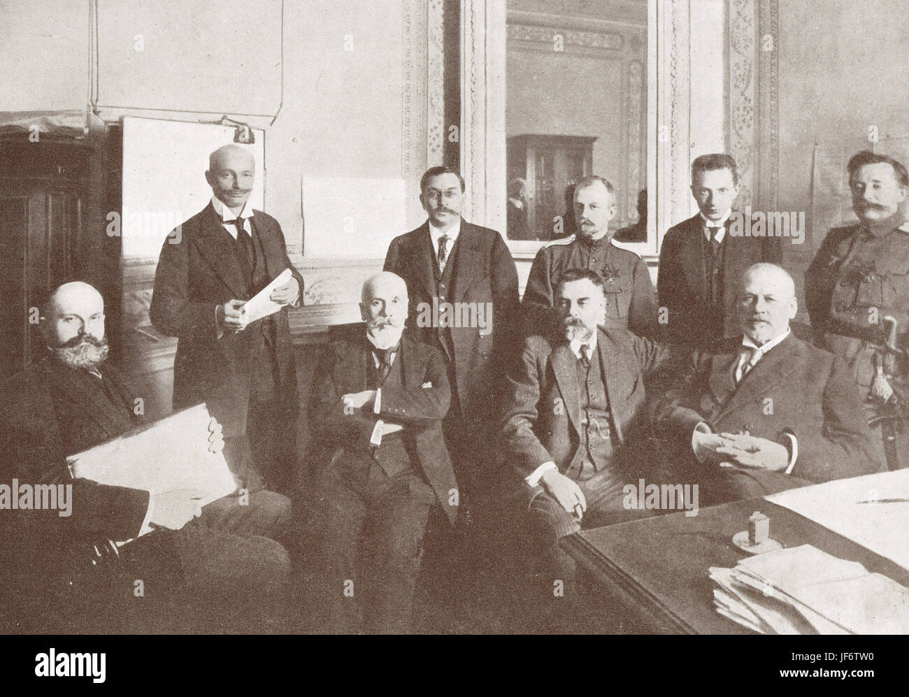 Leaders February Russian Revolution 1917 - Stock Image