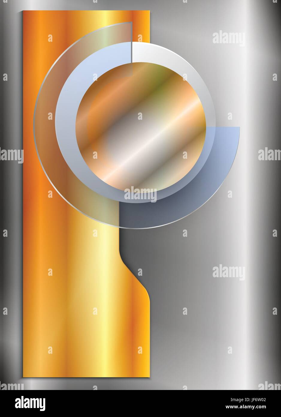 ring, circle, banner, glossy, metallic, shaddow, shadow, gold, ring, steel, - Stock Vector