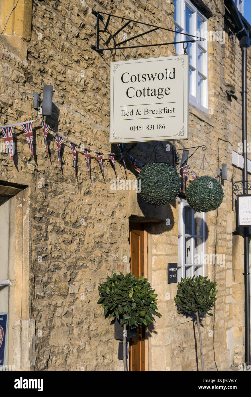 The Cotswold Cottage Bed and Breakfast in Stow Stock Photo
