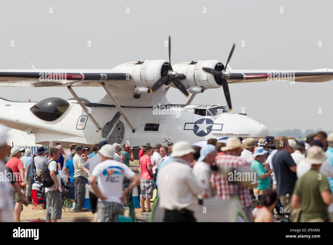 Plain Sailings Consolidated PBY Catalina Seaplane at the Royal International Air Tattoo, Fairford RAF, 2013 - Stock Image