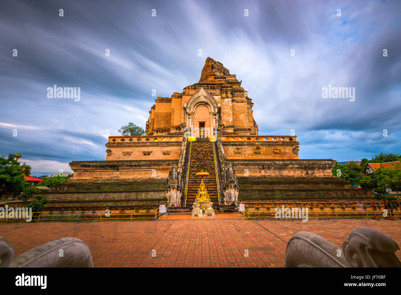 Wat Chedi Luang in Chiang Mai, Thailand. - Stock Image