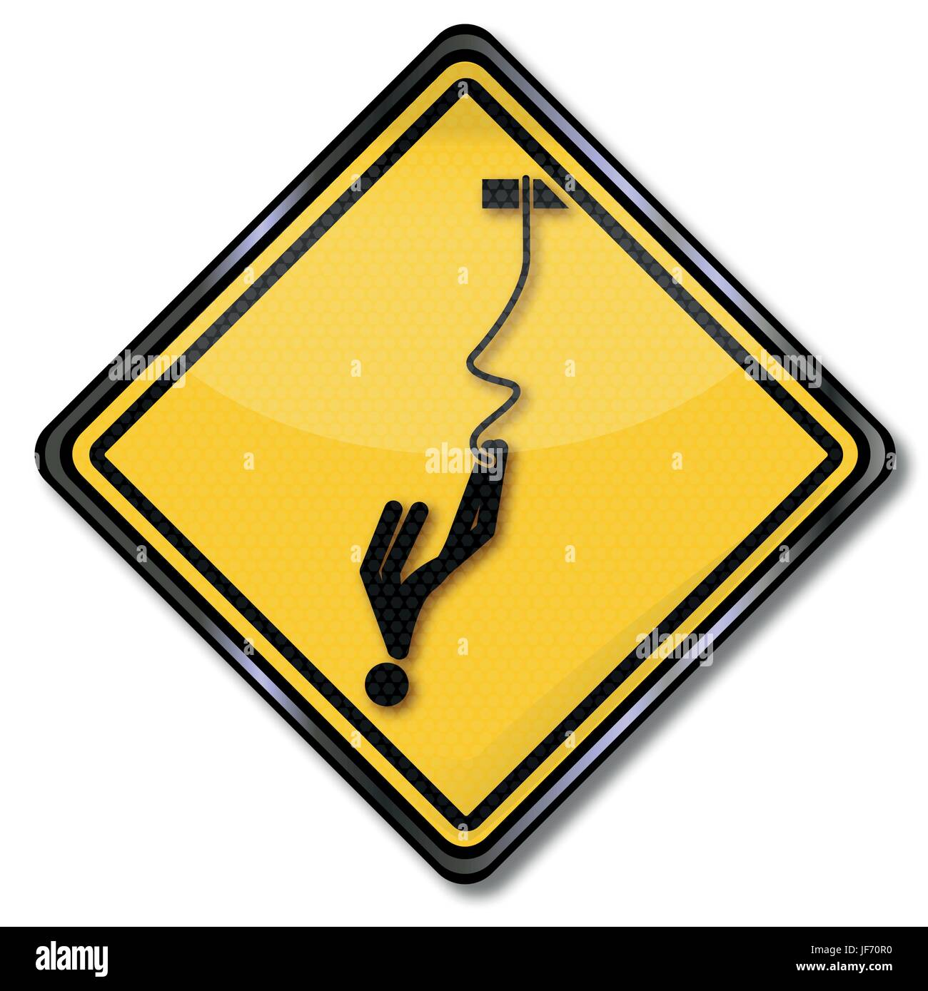 warning warning bungee jumping and sport Stock Vector