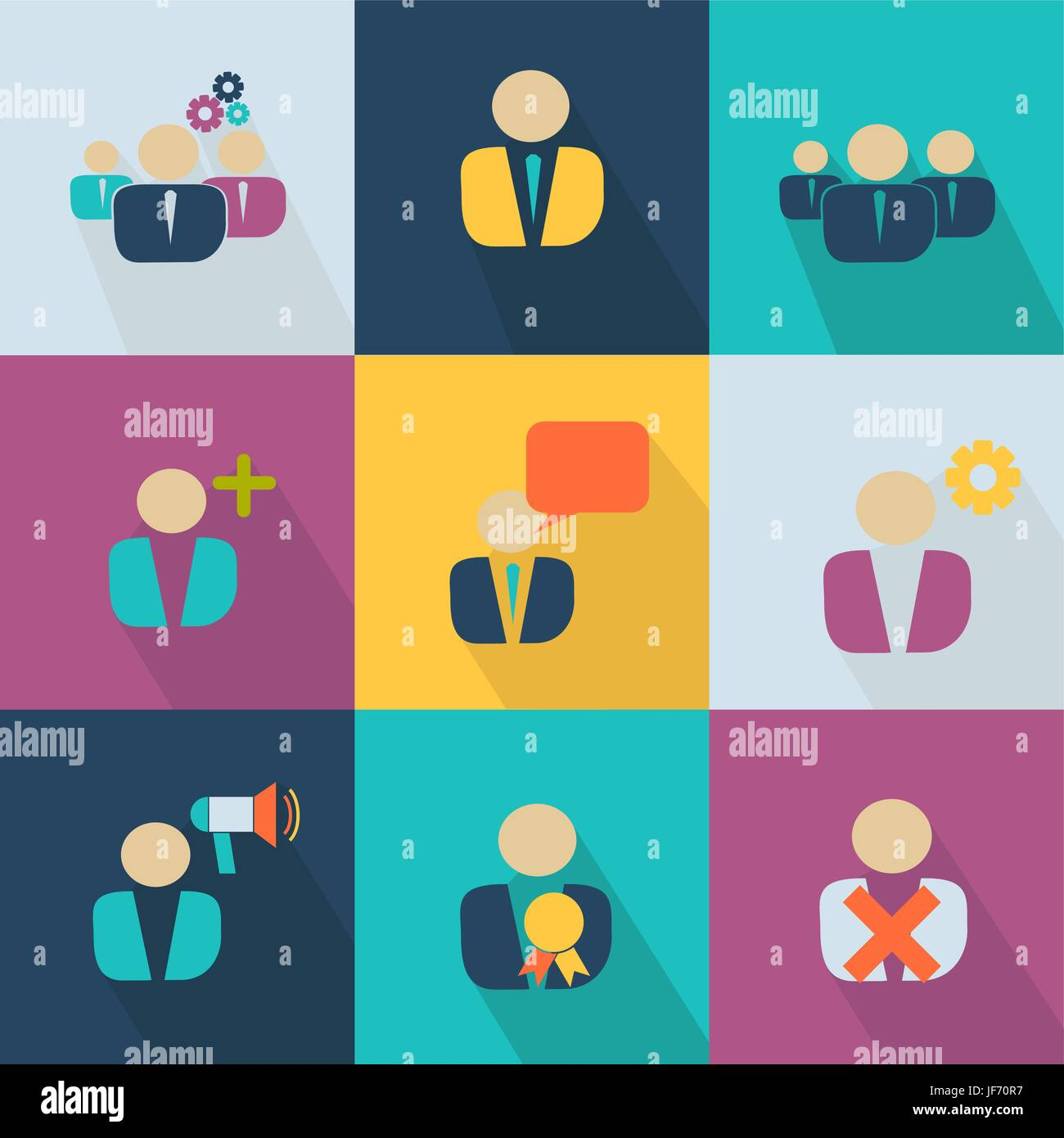 Business icon - style web 2.0 colorful - Stock Vector