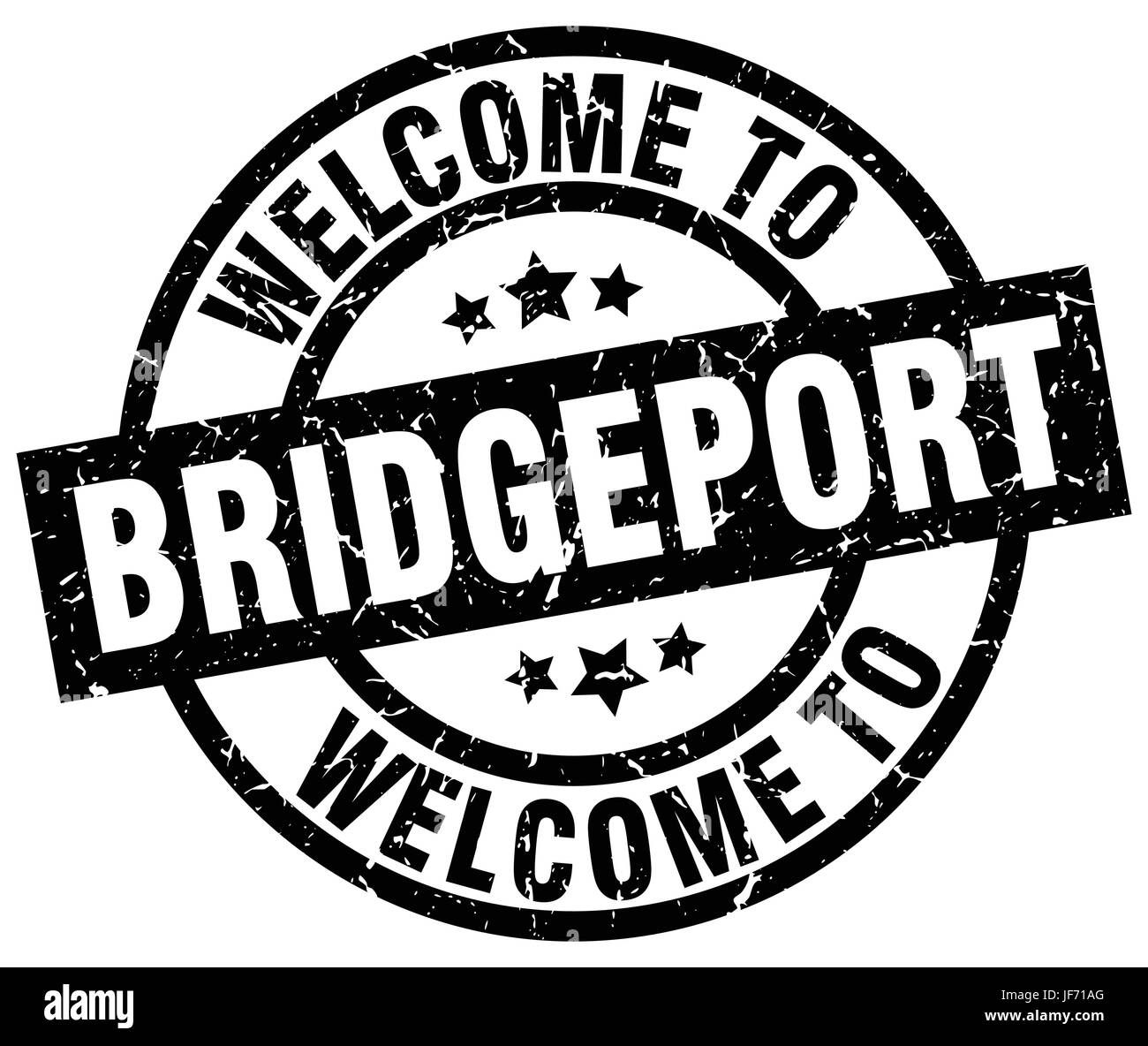 welcome to Bridgeport black stamp Stock Vector