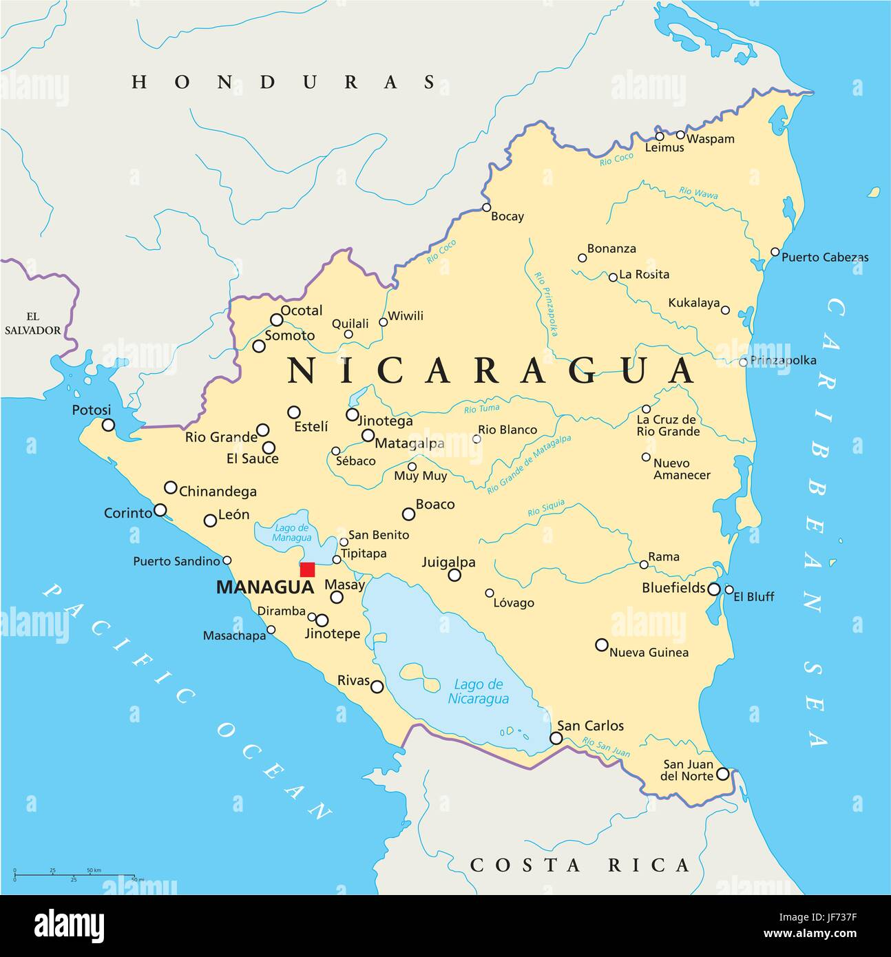 Travel Map Nicaragua Atlas Map Of The World Travel America