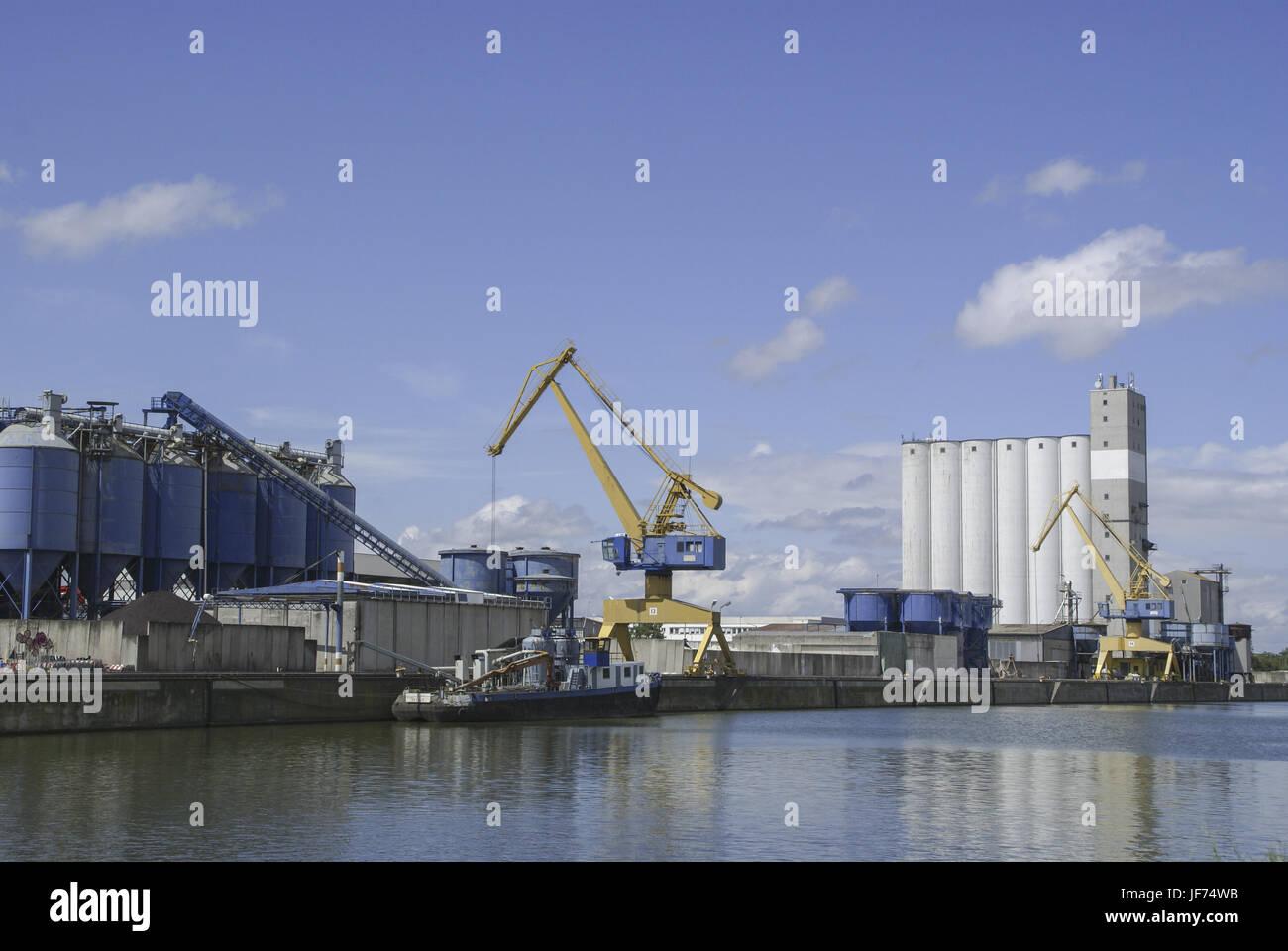 Inland port of Nuremberg, Germany, Bavaria - Stock Image