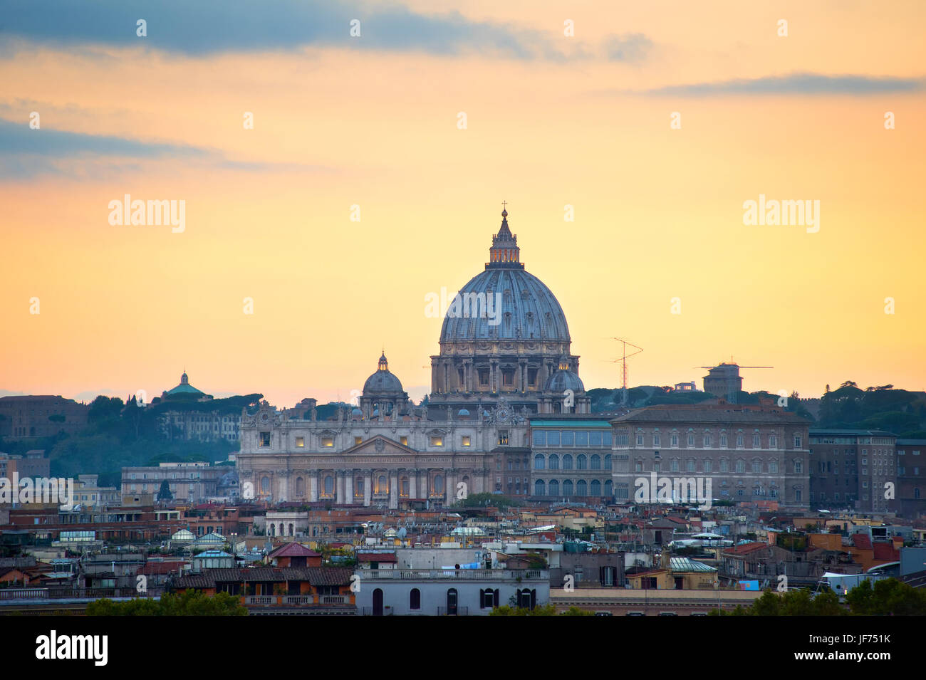 St Peter Cathedral, Vatican, Rome - Stock Image