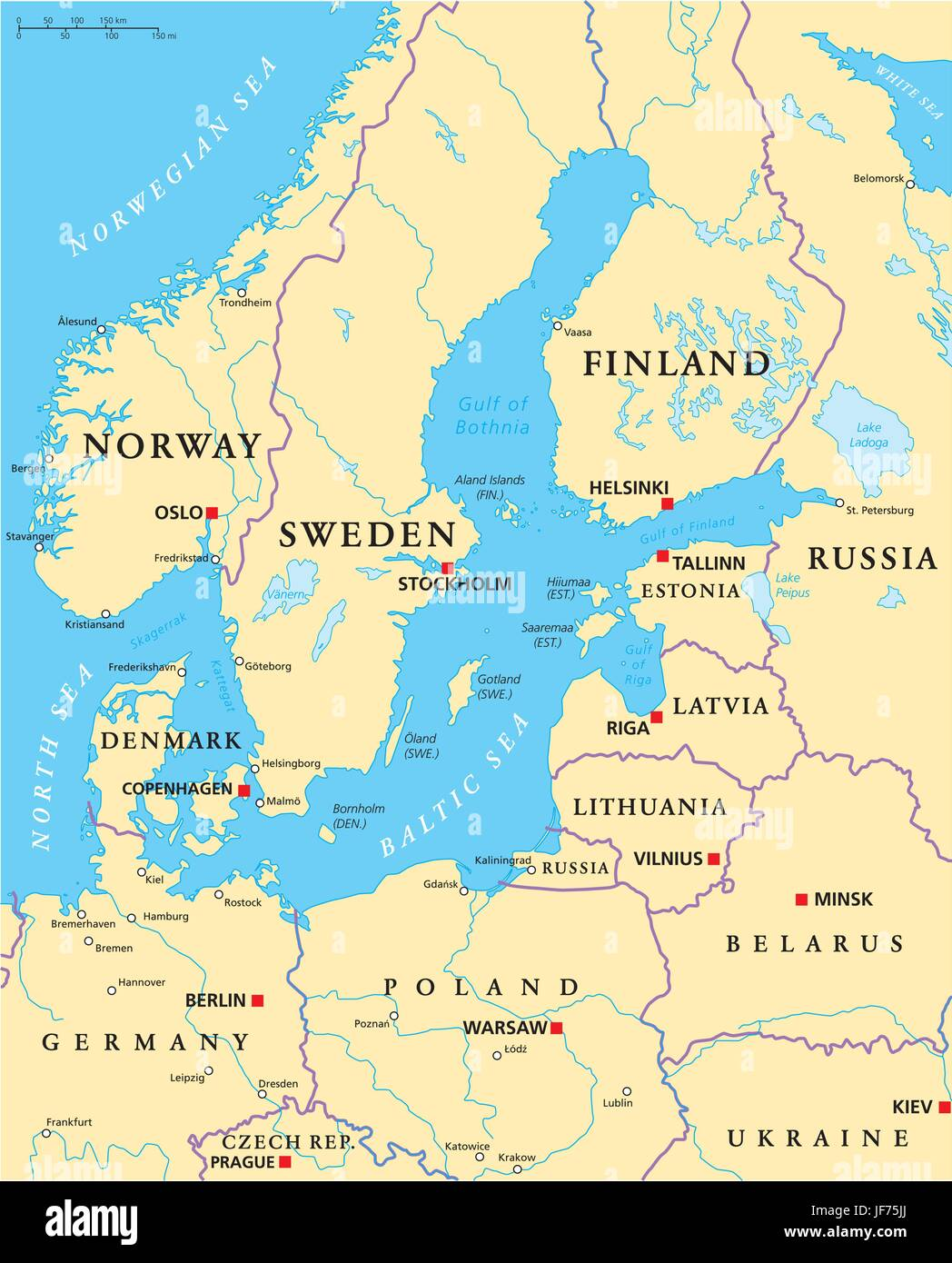 Baltic Europe Map.Europe Area Piece Section Segment Part Nations Baltic Map