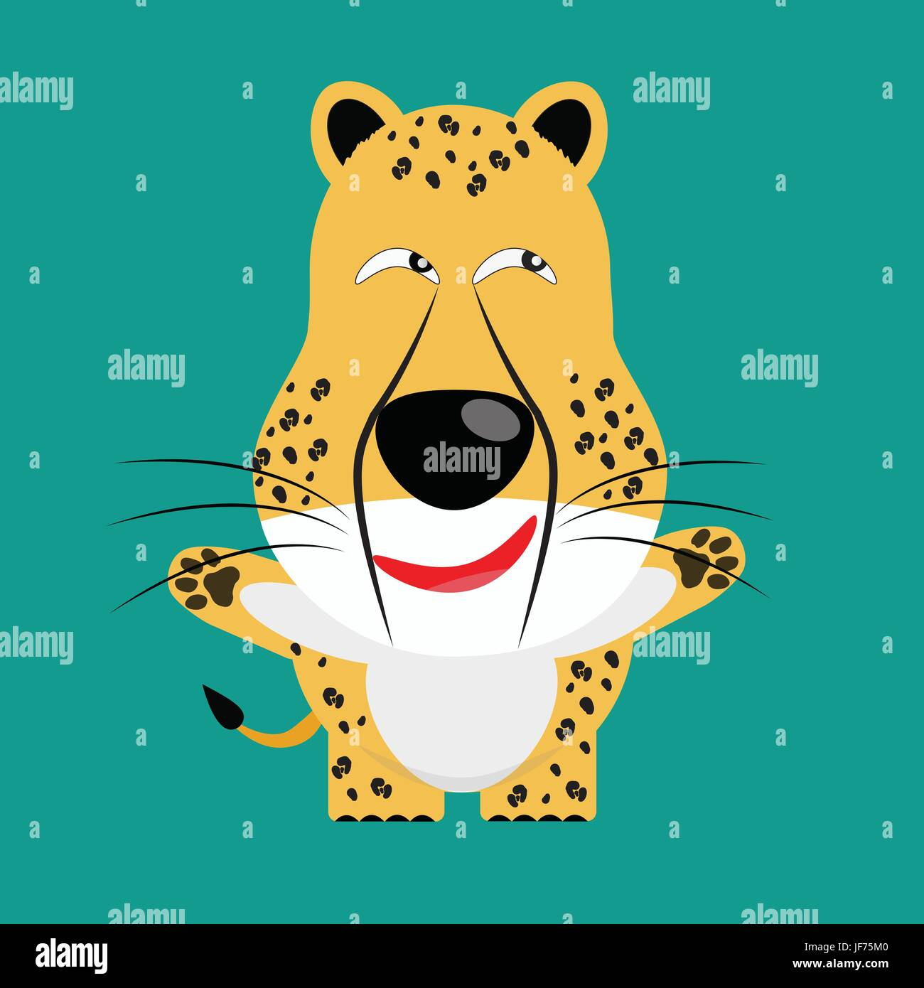 tricky cheetah gartoon character Stock Vector