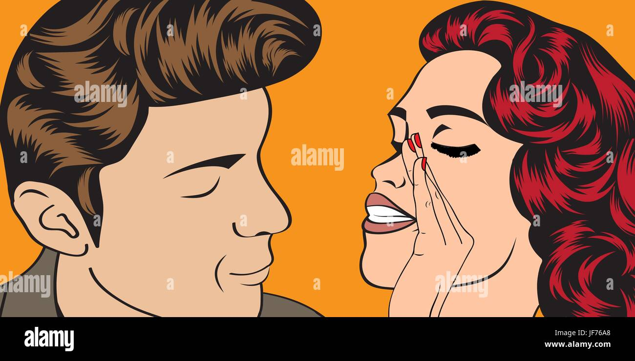 woman, art, lady, female, male, masculine, person, vintage, communication, - Stock Vector