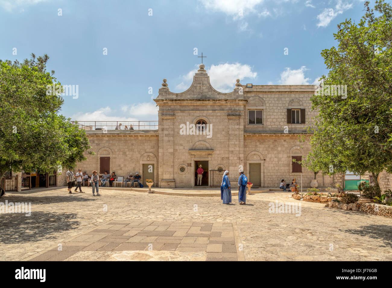 Deir Al-Mukhraqa Carmelite monastery on Mount Carmel, Dalyat