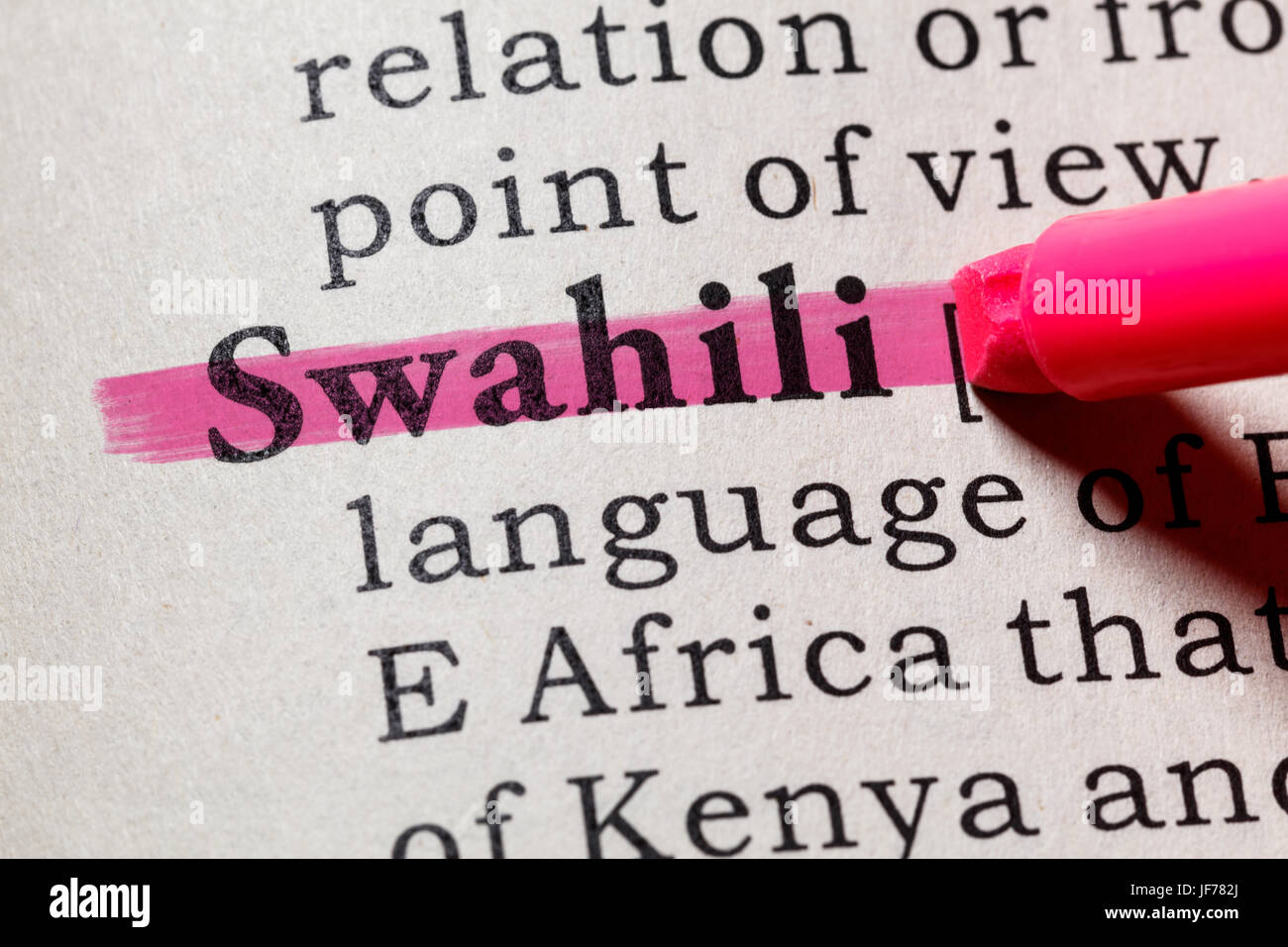 Fake Dictionary, Dictionary definition of the word Swahili