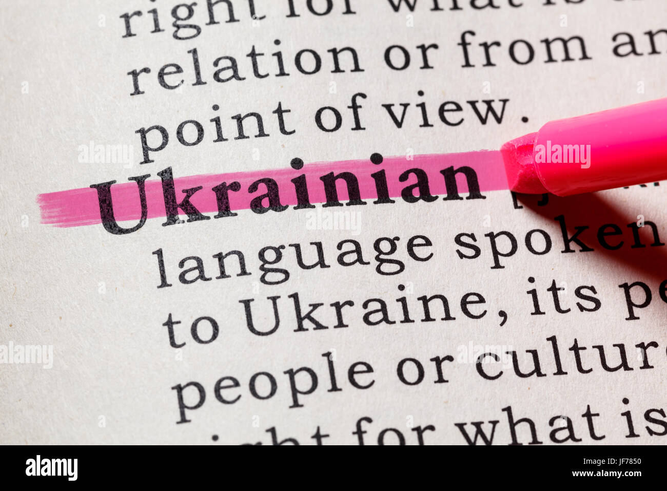 Fake Dictionary, Dictionary definition of the word Ukrainian