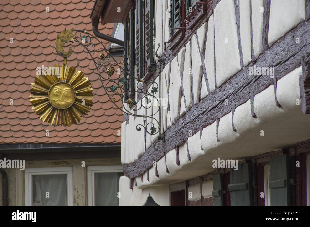 Half-Timbering house in Lauffen, Germany Stock Photo