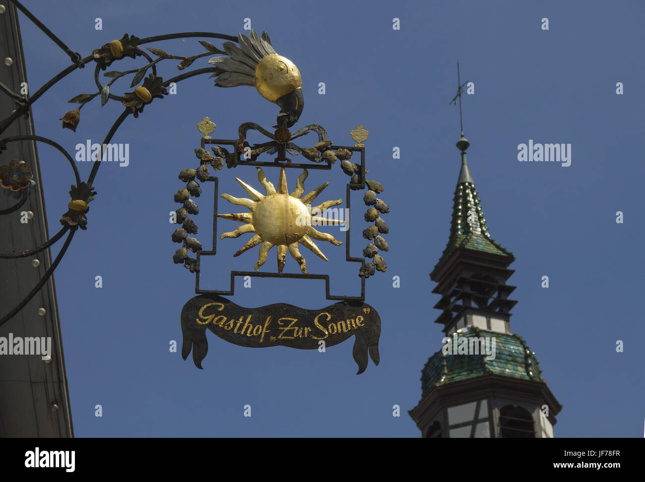 Inn sign in the city of Waiblingen, Germany Stock Photo