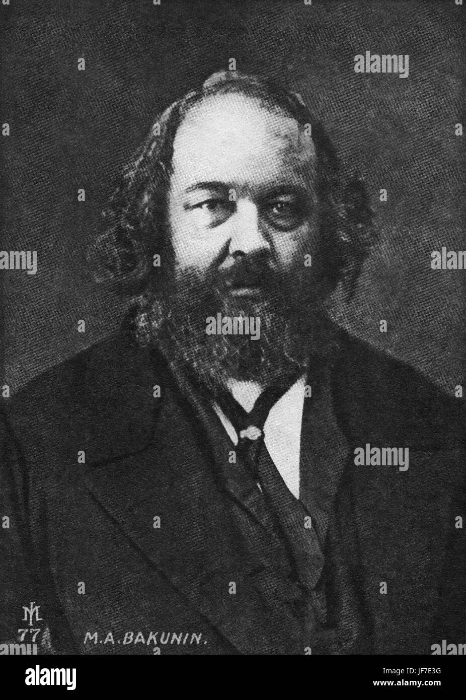Mikhail Alexandrovich Bakunin, Russian anarchist, led revolution in Dresden in 1848.  Wagner connection. 1814-1876 - Stock Image