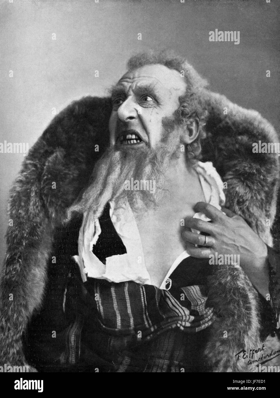 Louis Bouwmeester in the role of Shylock in William Shakespeare 's Merchant of Venice LB: Dutch actor, 5 september - Stock Image