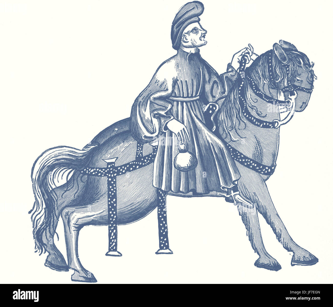 'The Manciple's Tale' -part of 'The Canterbury Tales' by Geoffrey Chaucer in the 14th century. - Stock Image