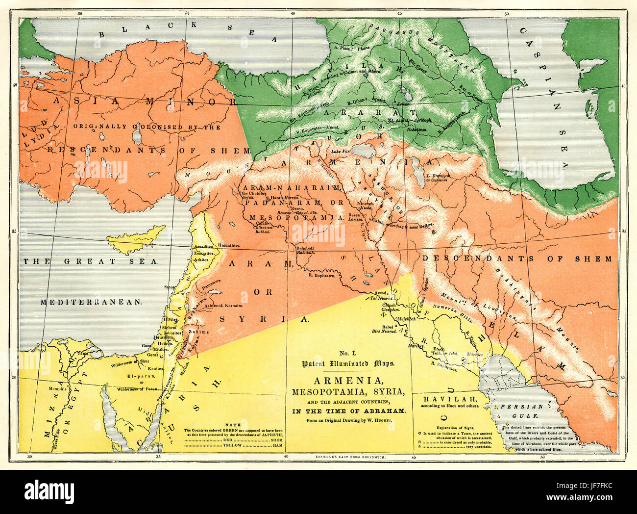 Map showing armenia mesopotamia and syria and adjacent countries in map showing armenia mesopotamia and syria and adjacent countries in the time of abraham from original drawing by william hughes gumiabroncs Gallery