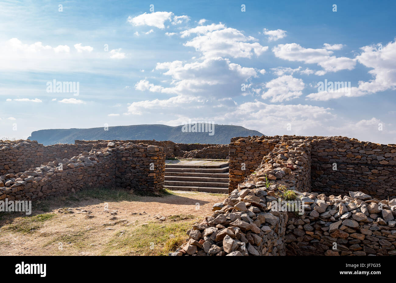 Ethiopia, Axum, the ruins of the baths of the Queen of Saba Stock Photo