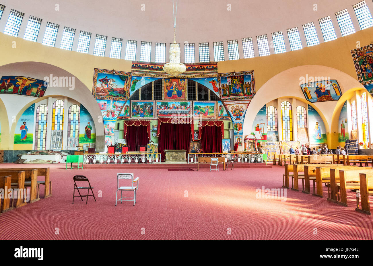 Ethiopia, Axum, the modern church of Our Lady Mary of Sion - Stock Image