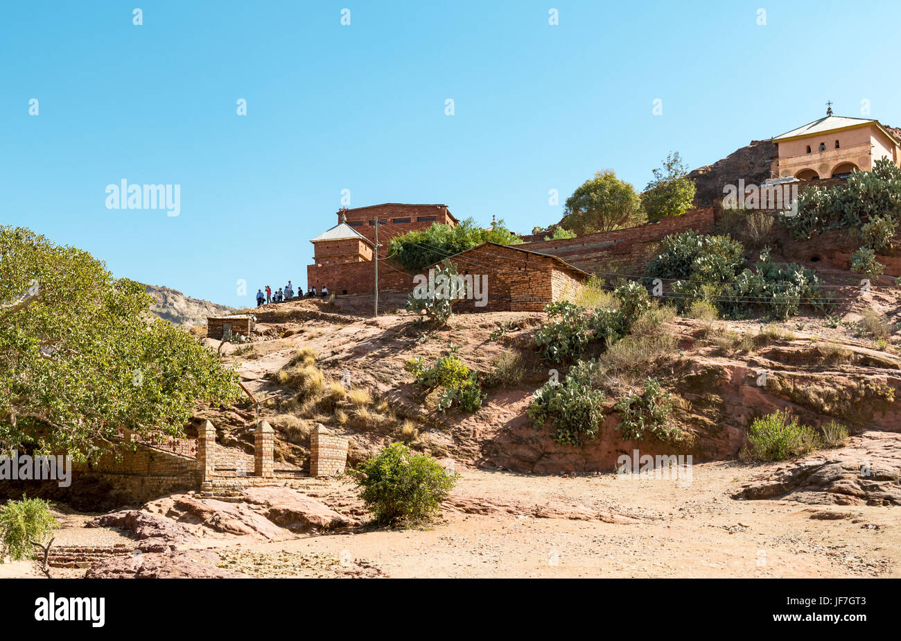 Ethiopia, Macalle, view of the old Abreha Atsbeha rock church - Stock Image