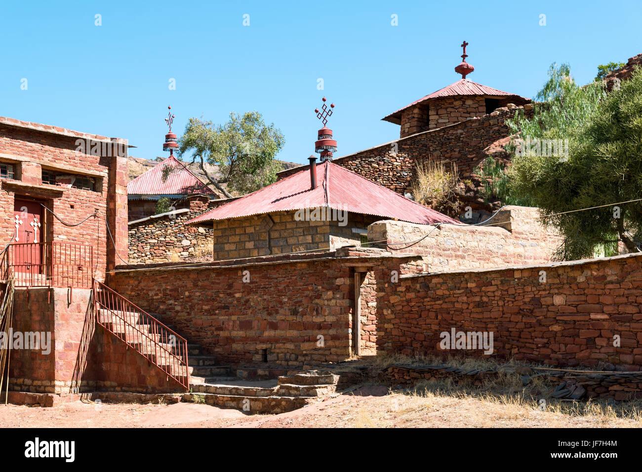Ethiopia, Macalle, the old Abreha Atsbeha rock church - Stock Image