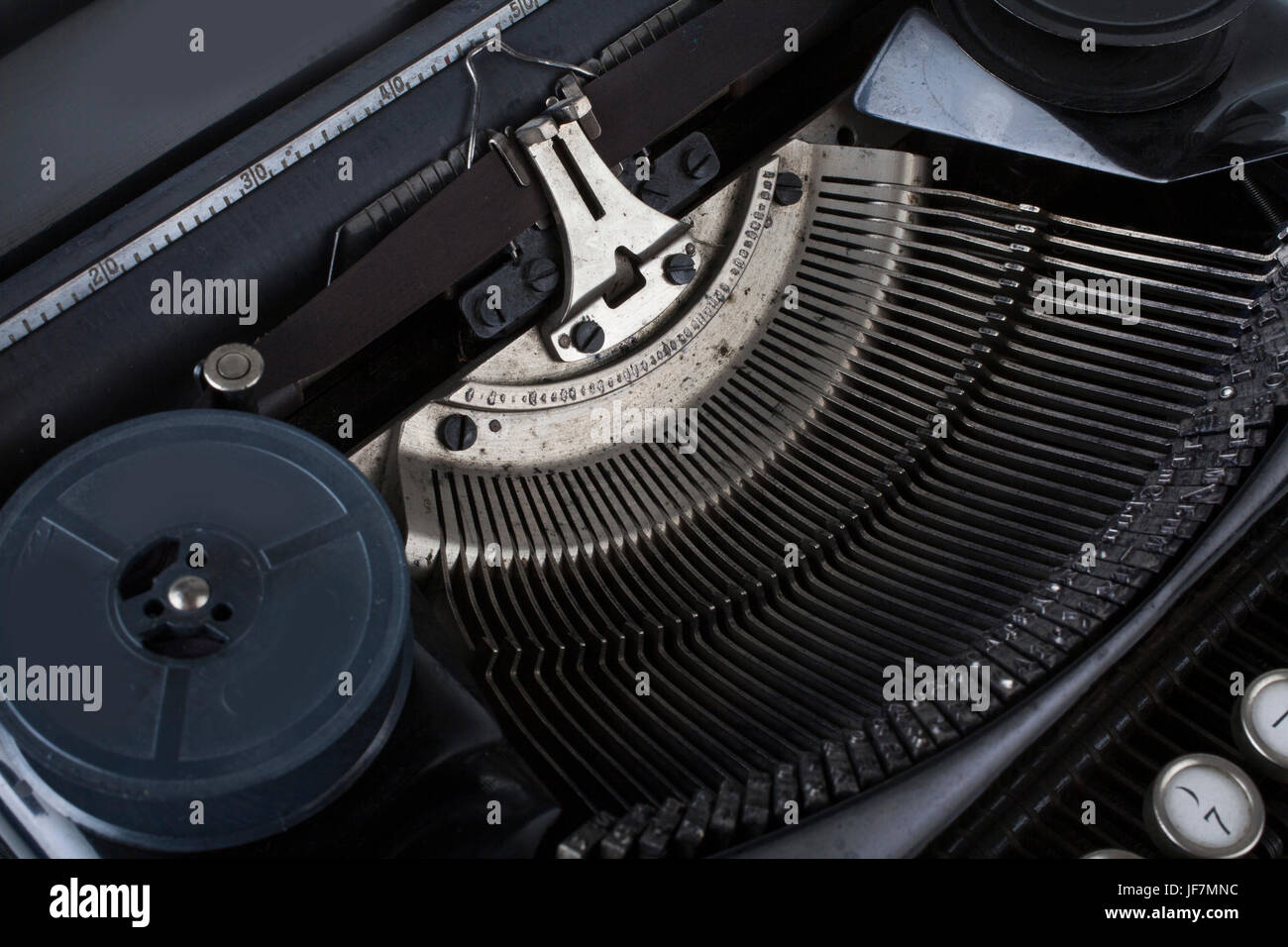 old typewriter mechanism - Stock Image