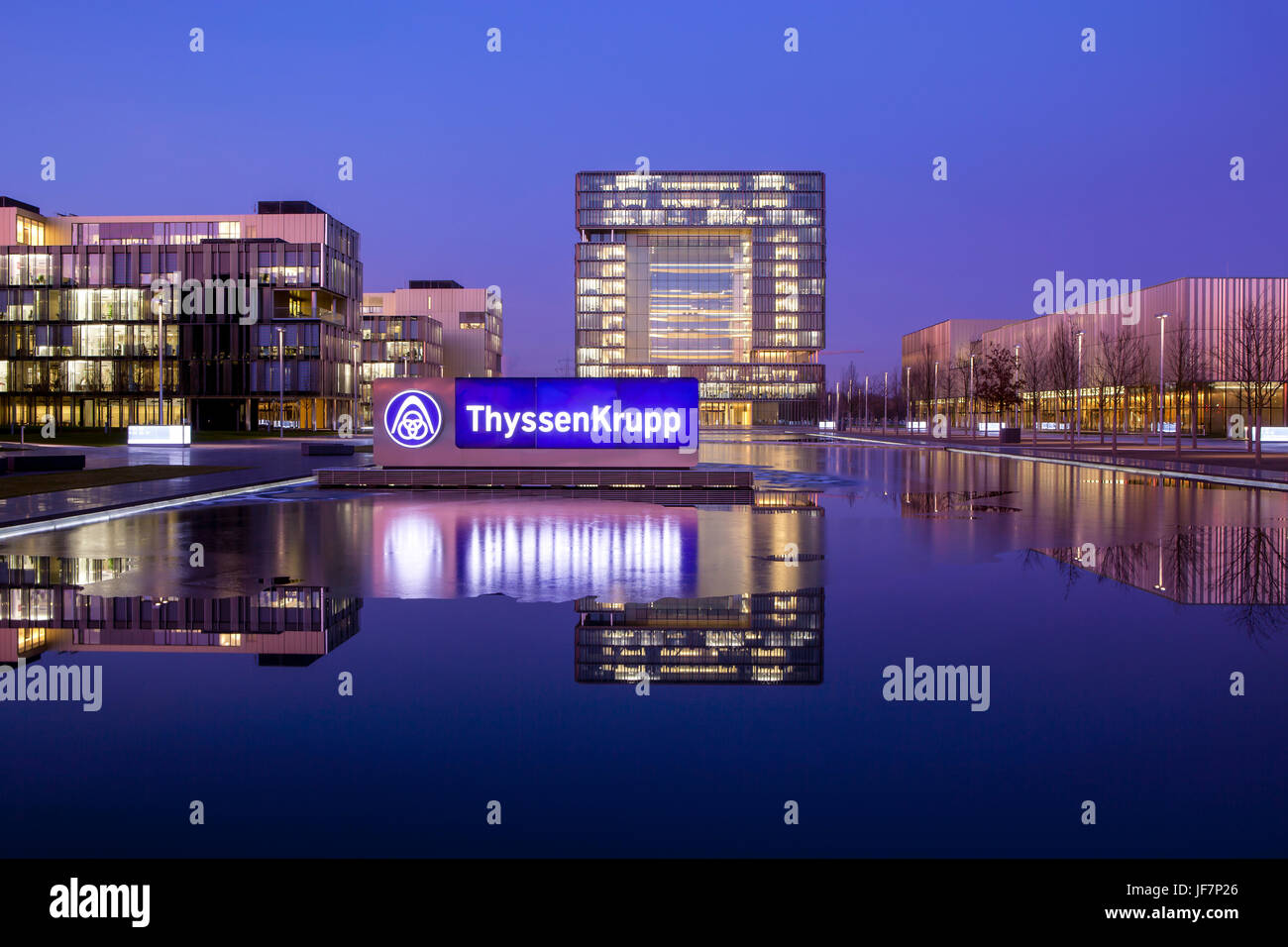 ThyssenKrupp Quartier, Head Office, Essen, North Rhine-Westphalia, Germany, Europe, ThyssenKrupp Quartier, Hauptverwaltung, Stock Photo