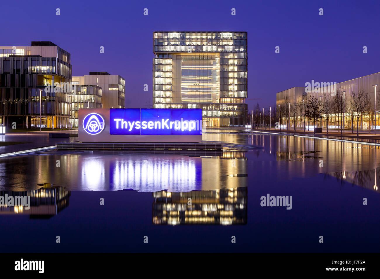 ThyssenKrupp Quartier, Head Office, Essen, North Rhine-Westphalia, Germany, Europe, ThyssenKrupp Quartier, Hauptverwaltung, - Stock Image