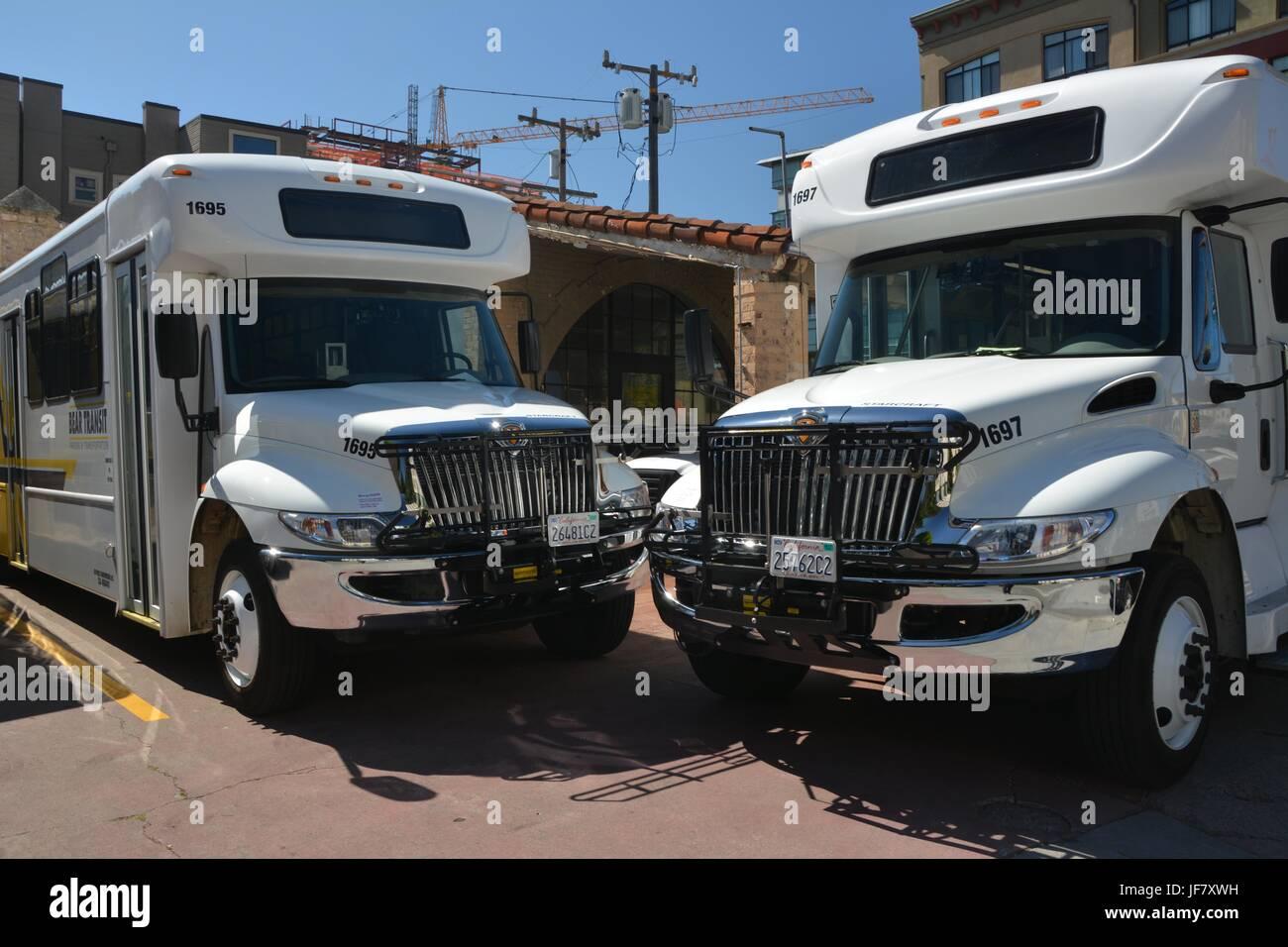 Bear Transit Parking & Transportation in Berkeley on April 30, 2017, California USA - Stock Image