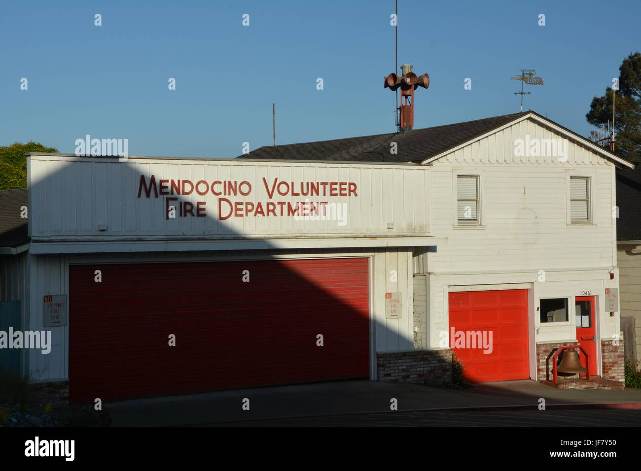 Mendocino Volunteer Fire Department from April 28, 2017, USA - Stock Image