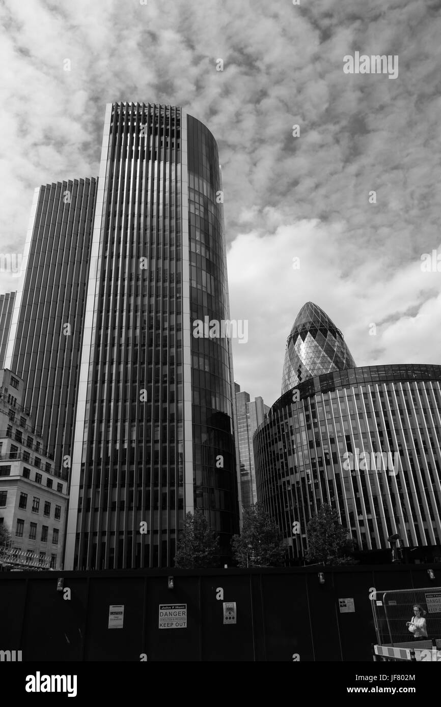 City of London skyline in the financial sector Stock Photo
