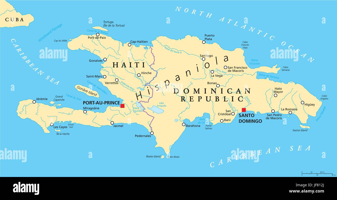 Map Haiti Dominican Republic Stock Photos & Map Haiti Dominican ...